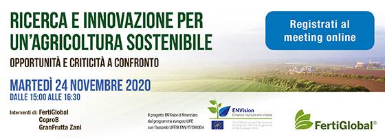 Ricerca e Innovazione per un'Agricoltura Sostenibile: Opportunità e criticità a confronto